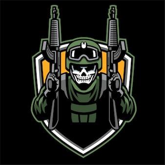 Badge design e sport skull soldier