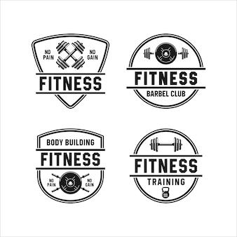 Collezione di palestra fitness badge