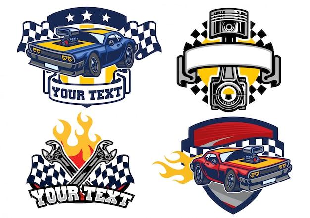 Badge design muscle car