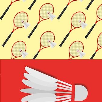 Modello di competizione sportiva volano di racchetta da badminton