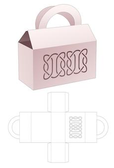 Scatola per borsa e modello fustellato con linee stampate