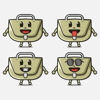 Borsa simpatica mascotte con logo del personaggio