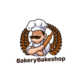 Mascotte di pane di panetteria bakeshop cibo