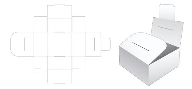Modello fustellato contenitore contenitore