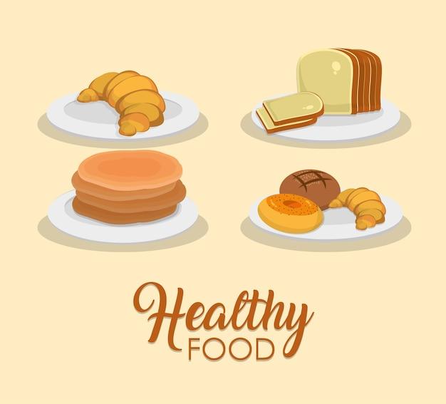 Concetto di panetteria e cibo sano