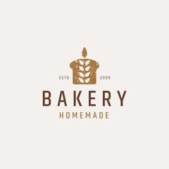 Vettore piatto del modello di progettazione dell'icona del logo della panetteria