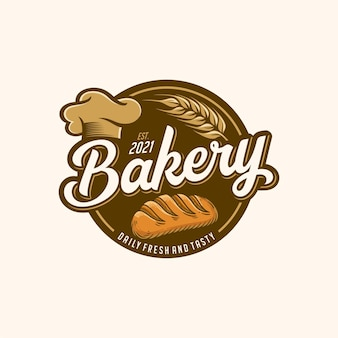 Modello logo panetteria baker