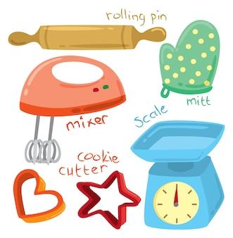 Illustrazione di utensili di cottura