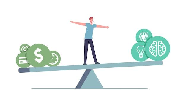 Equilibrio sul lavoro illustrazione