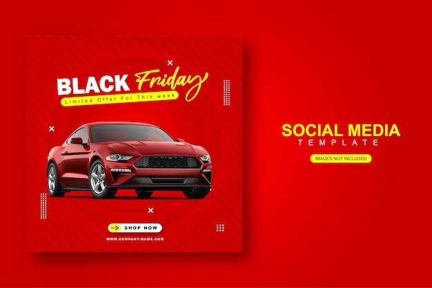 Balck friday modello di banner post instagram social media