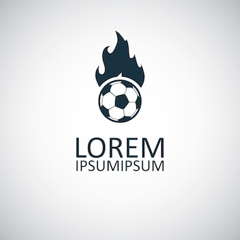 Icona di fuoco palla, su sfondo bianco