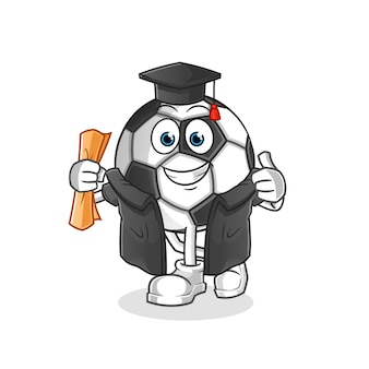 Illustrazione di laurea palla