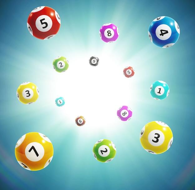 Numeri di lotteria della sfera 3d