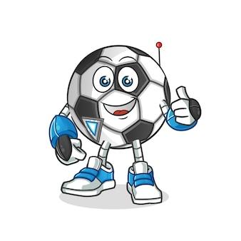 Fumetto del personaggio del robot palla