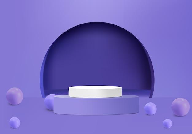 Palla con podio e arco per prodotto spettacolo