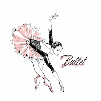 Ballerina in tutu di balletto rosa.
