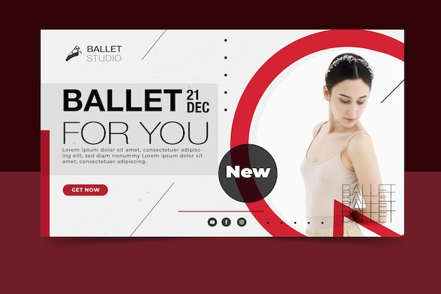 Disegno del modello di banner evento di balletto