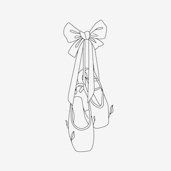 Ballerine con stile line art 4