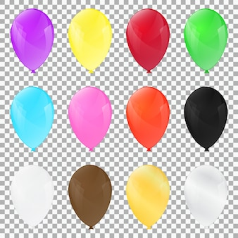 Design a palloncino di ogni colore illustrazioni vettoriali