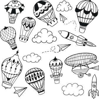Collezione di doodle di palloncini