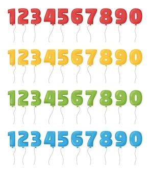 Numeri di palloncino per festa di compleanno