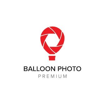 Modello di vettore dell'icona del logo della foto del palloncino