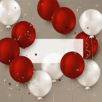 Sfondo di palloncini design di celebrazione per social network, vendite promozionali.