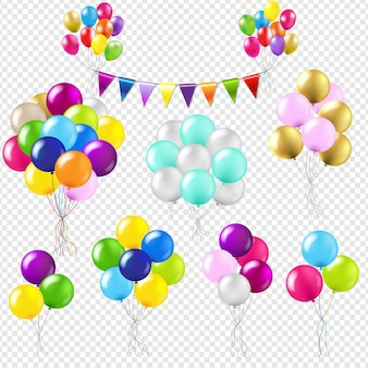 Palloncini set gradiente maglie, illustrazione