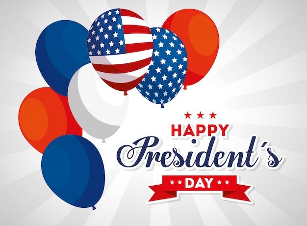 Palloncini, usa felice giorno dei presidenti stati uniti d'america indipendenza nazione stati uniti paese e carta nazionale