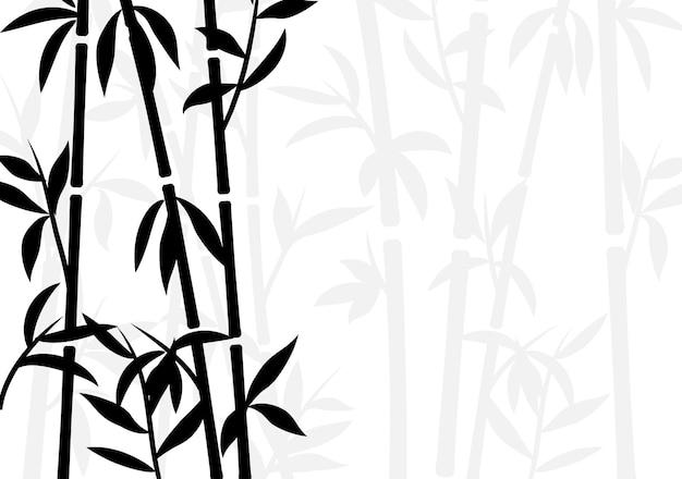 Sfondo di bambù carta da parati con piante asiatiche giapponesi grass