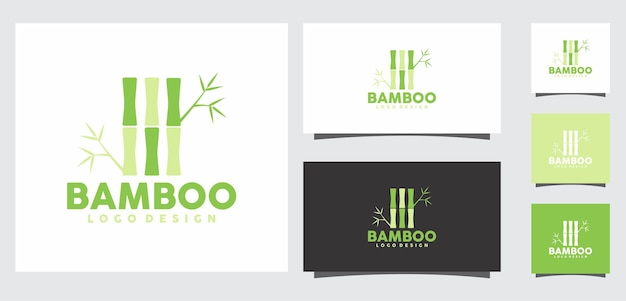 Design del logo in bambù