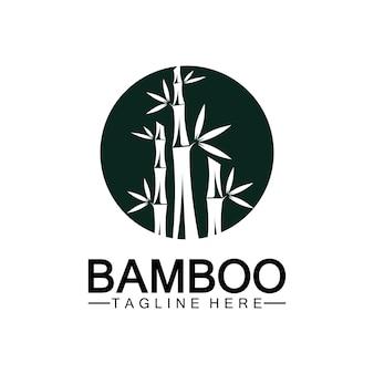 Progettazione dell'illustrazione dell'icona di vettore del modello di logo di bambù