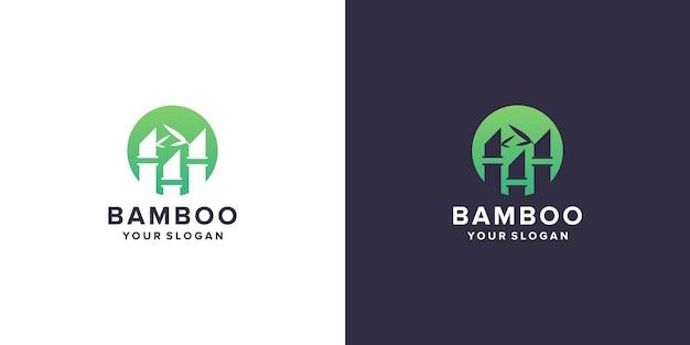 Modello di logo di bambù