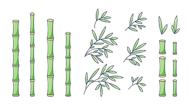 Set di bambù in stile cartone animato
