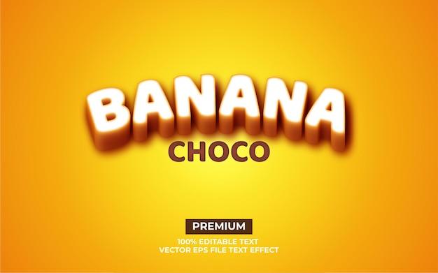 Effetto testo banana choco