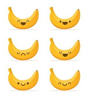 Banana carino illustrazione cartoon kawaii