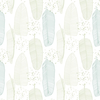 Modello senza cuciture naturale di foglie di palma di banana