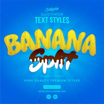 Banana split text style