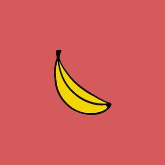 Banana simbolo social media post frutta illustrazione vettoriale
