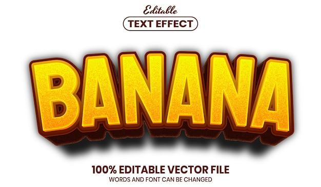 Testo a banana, effetto di testo modificabile