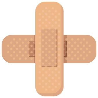 Fasciatura nastro medico elastico adesivi di pronto soccorso lesioni o protezione antigraffio farmaceutica