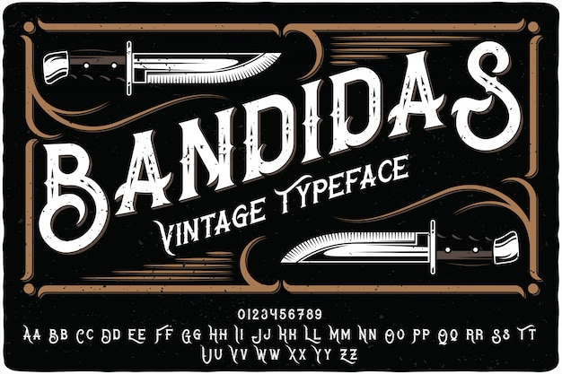 Scritte vintage bandidas