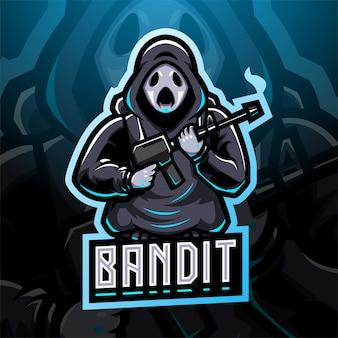 Bandit esport mascotte logo design