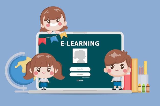 Bangkok student online concetto di istruzione scolastica