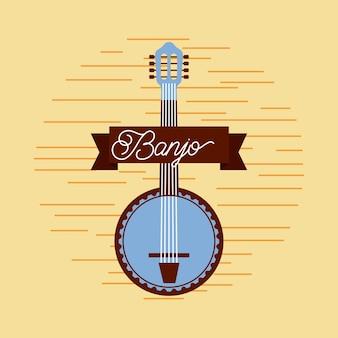 Celebrazione del festival musicale dello strumento di jazz del banjo