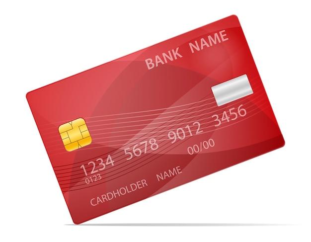 Carta di plastica della banca isolata su priorità bassa bianca