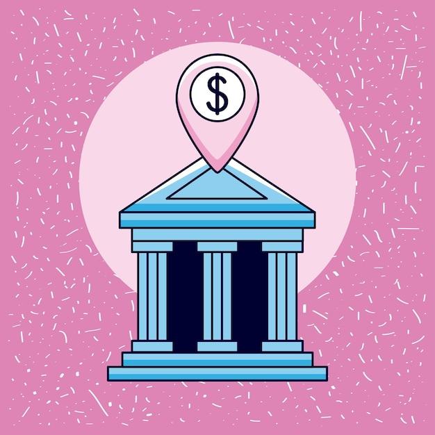 Banca con denaro in contrassegno gps