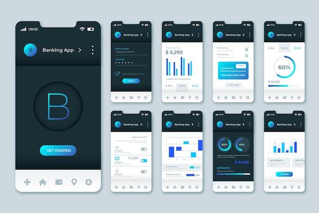 Modello di interfaccia dell'app bancaria