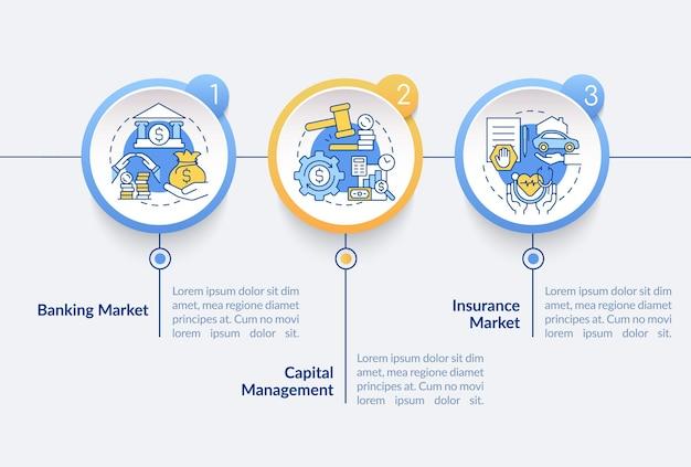 Modello di infografica vettoriale mercato bancario
