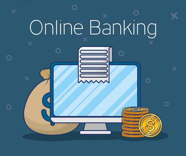 Tecnologia bancaria online con desktop